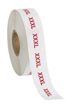 Self-Adhesive Size Labels - Size XXXL