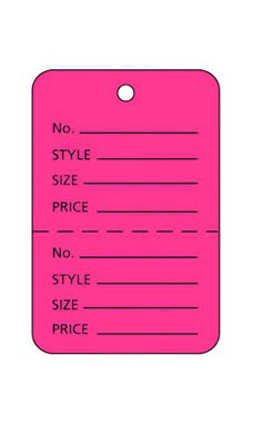Small Flamingo Pink Unstrung Price Tags