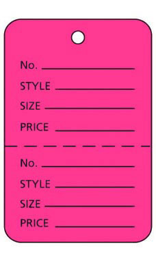 Large Unstrung Pink Flamingo Perforated Coupon Price Tags