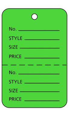 Large Unstrung Palm Tree Green Perforated Coupon Price Tags