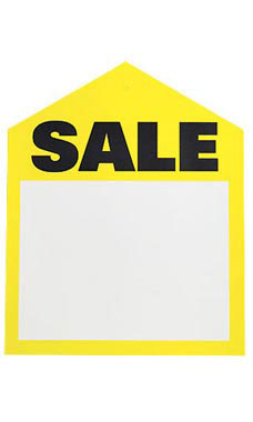 Large Oversized Yellow Sale Price Tags