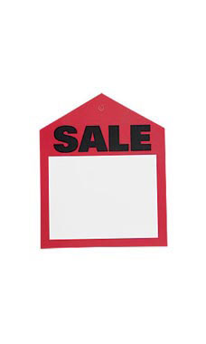 Small Red Oversized Sales Price Tags
