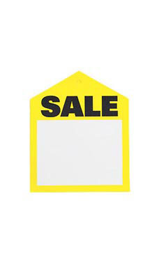 Small Oversized Yellow Sale Price Tags