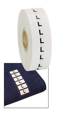 Wrap Around Clothing Size Labels - Size L