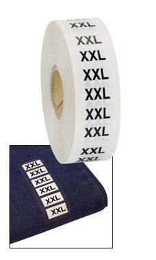 Wrap Around Clothing Size Labels  -Size XXL