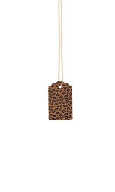Small Strung Scalloped Brown Leopard Tags