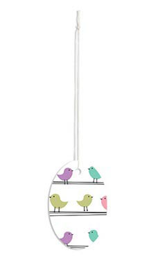 Large Strung Oval Little Birdies Tags