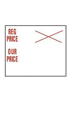 Reg Price/Our Price SSW 2-Line Pricing Gun Sales Labels
