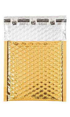 Small Gold Glamour Bubble Mailers
