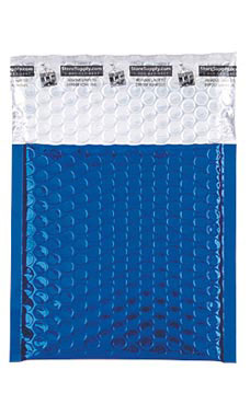 Small Blue Glamour Bubble Mailers