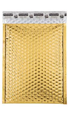 Medium Gold Glamour Bubble Mailers