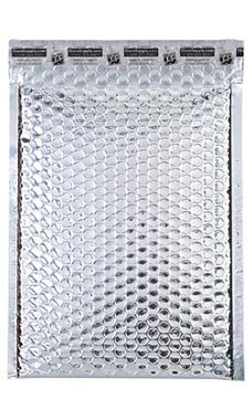 Medium Silver Glamour Bubble Mailers