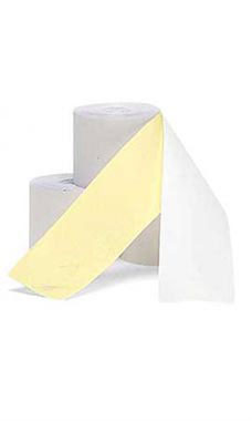 2 ¼ inch White/Canary 2-Ply Cash Register Tape