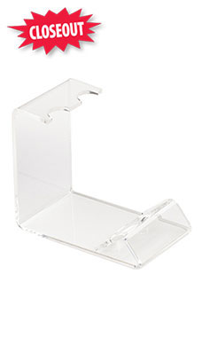 Angled 2-Slot Acrylic Display Stand