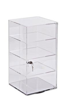 4-Shelf Acrylic Rotating Tower Display