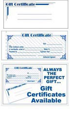 gift certificates forms