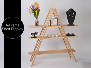 A Frame Shelf Display
