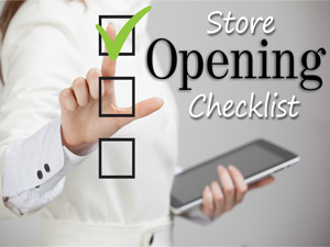 store opening checklist