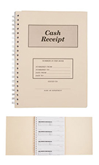 3-Part Cash Receipt Book