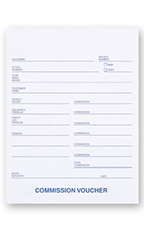 3-Part Carbonless Commission Vouchers