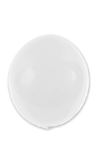 20 inch Reusable White Vinyl Balloon