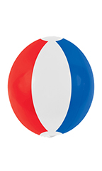20 inch Reusable Red/White/Blue Vinyl Balloon