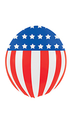 20 inch Reusable Stars & Stripes Vinyl Balloon