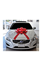 30 inch Red Magnetic Car Bow