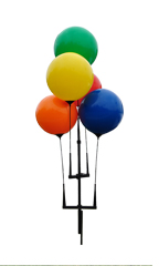 Reusable 5-Balloon Cluster with Ground Spike