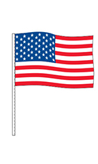American Flag Cloth Antenna Pennant