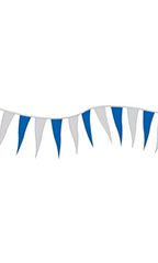 Blue/Silver Metallic Triangle Pennant
