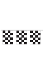 Black/White Checkered Square Pennant
