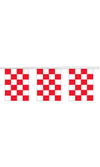 Red/White Checkered Square Pennant