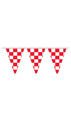 Red/White Checkered Triangle Pennant