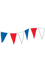 Economy 60 foot Red/White/Blue Triangle Pennant