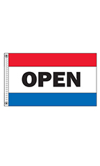 "Horizontal Stripe Message Flag - ""Open"""