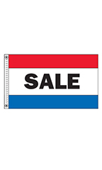 "Horizontal Stripe Message Flag - ""Sale"""
