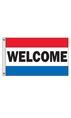 "Horizontal Stripe Message Flag - ""Welcome"""
