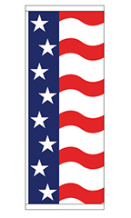 Patriotic Theme Flag - Stars & Stripes Wave