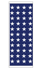 Patriotic Theme Flag - Stars - Blue