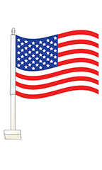 Window Clip On Flag - American Flag