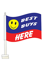 "Window Clip On Flag - ""Best Buys"""