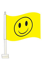 Window Clip On Flag - Smiley Face