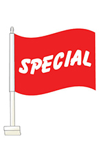 "Window Clip On Flag - ""Special"""