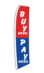 "Wave Flag - ""Buy Here Pay Here"" 1"