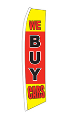 "Wave Flag - ""We Buy Cars"""