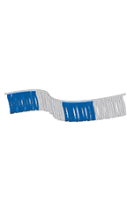 120 foot Blue/Silver Metallic Fringe Pennant