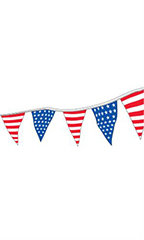 60 foot Stars and Stripes Patriotic Triangle Pennant