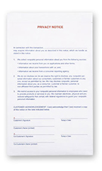 2-Part Privacy Notice Forms