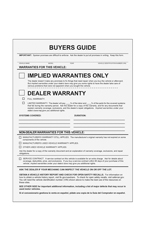 Implied Warranties Only Buyers Guides